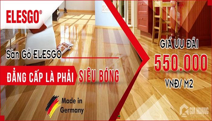 Sàn gỗ với bề mặt siêu bóng